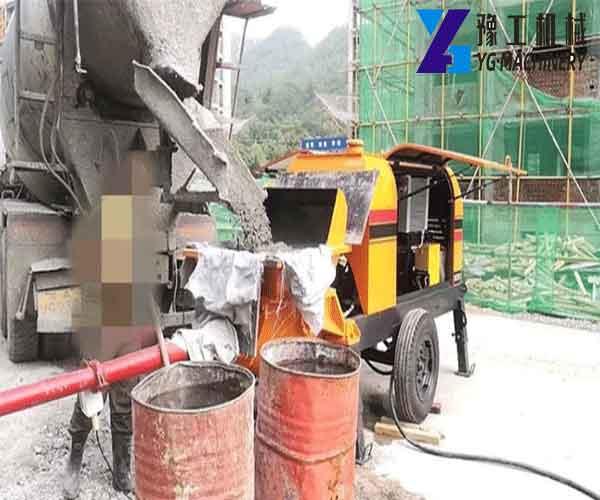 Application of Small Concrete Pump