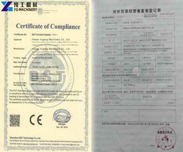CE and Quality Certificate