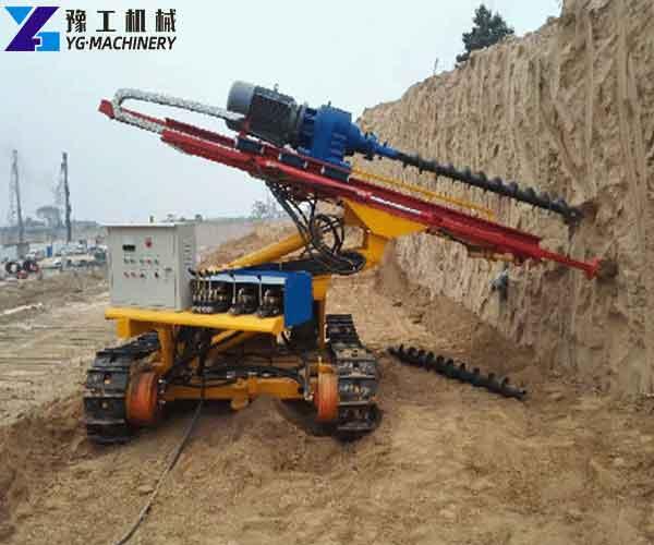 Crawler Anchor Drill Rig Application