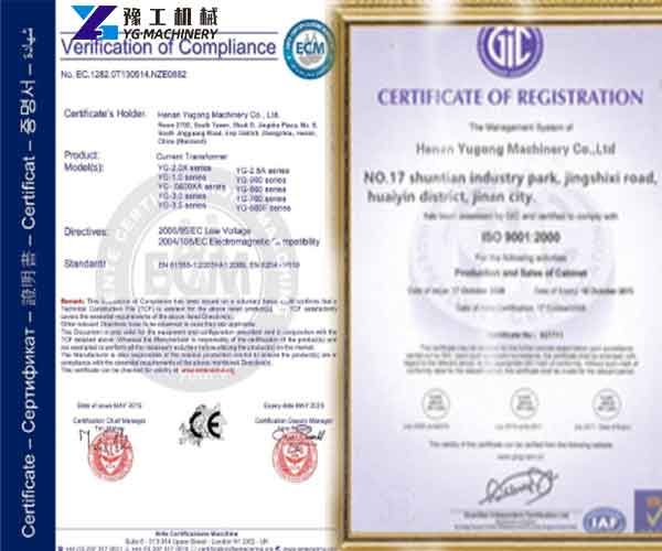 SGS and ISO Certificate