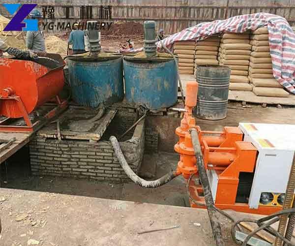 Use of Hydraulic Mortar Pump